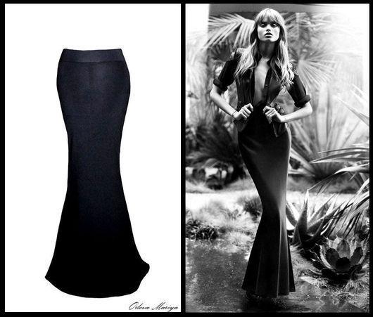 Слева юбка сшита из ткани трикотаж-масло,справа на девушке юбка сшита из ткани трикотаж-джерси