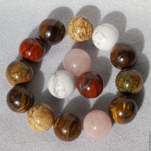 Персональные подарки ручной работы. Ярмарка Мастеров - ручная работа. Купить Шар из природного камня, шарики 25 мм. Handmade.