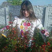Одежда ручной работы. Ярмарка Мастеров - ручная работа Вышитая нарядная блузка для девочки  ручная вышивка. Handmade.