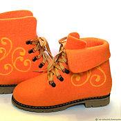 Ботинки ручной работы. Ярмарка Мастеров - ручная работа Валяные женские ботинки. Handmade.