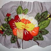"""Одежда ручной работы. Ярмарка Мастеров - ручная работа Декоративная вставка на одежду """"Цветы 6"""". Handmade."""