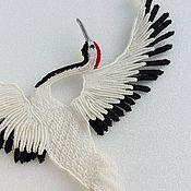 Колье ручной работы. Ярмарка Мастеров - ручная работа Колье: Журавли в японском стиле. Handmade.