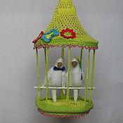Для дома и интерьера ручной работы. Ярмарка Мастеров - ручная работа Клетка с попугаями. Handmade.