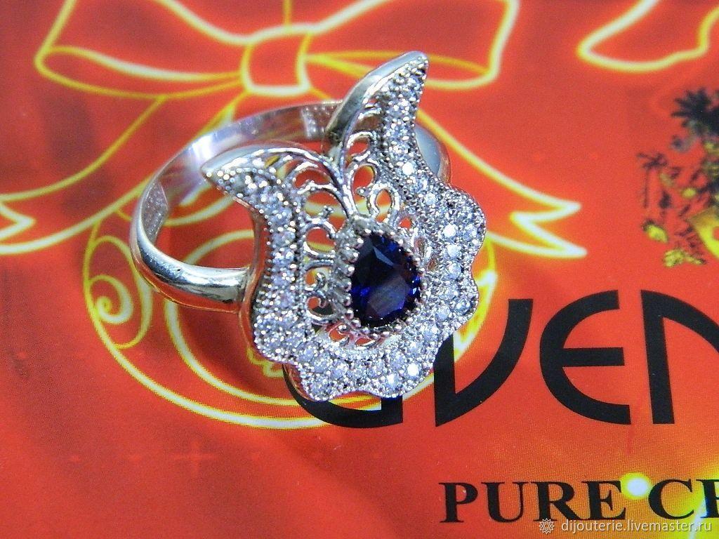 Ring Earrings 'Tulip' silver jewelry, Jewelry Sets, Saratov,  Фото №1