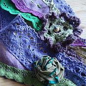 Аксессуары ручной работы. Ярмарка Мастеров - ручная работа Бохо косынка Фиолетово-зелёная. Handmade.