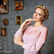 Одежда ручной работы. Ярмарка Мастеров - ручная работа Очарование Совершенства, женское платье с кружевом. Handmade.