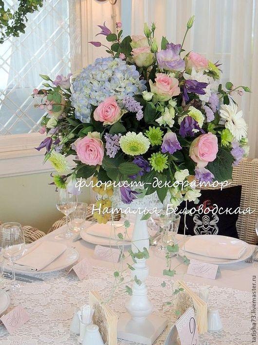 Свадебные цветы ручной работы. Ярмарка Мастеров - ручная работа. Купить Свадьба шебби-шик. Handmade. Свадьба, стол гостей