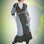Одежда ручной работы. Ярмарка Мастеров - ручная работа Вязаное Пальто-кардиган трансформер. Handmade.