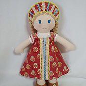 Мягкие игрушки ручной работы. Ярмарка Мастеров - ручная работа Мягкие игрушки: Французская игровая текстильная кукла Алёнка. Handmade.