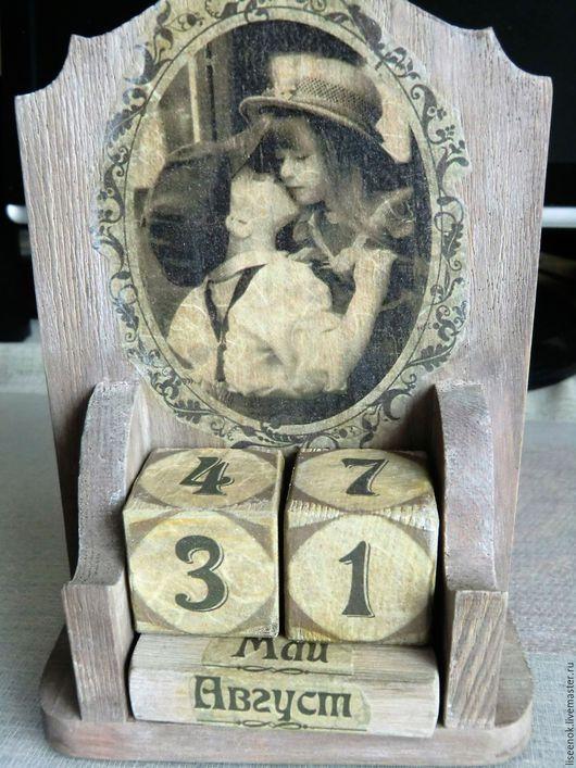 Календари ручной работы. Ярмарка Мастеров - ручная работа. Купить Вечный календарь Любовь. Handmade. Серый, ручная работа handmade