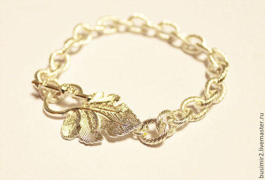 Основа для браслета, цвет -  серебро. Основы и заготовки для создания украшений. Busimir