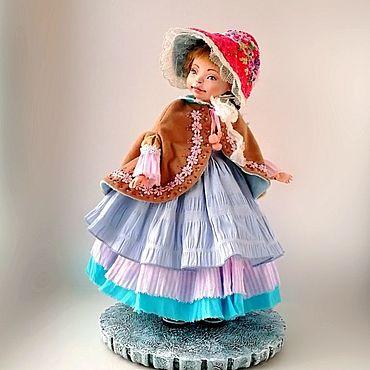 Куклы и игрушки ручной работы. Ярмарка Мастеров - ручная работа Кукла шарнирная будуарная авторская коллекционная  Оливия голубой. Handmade.