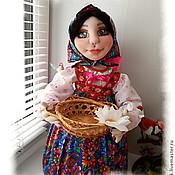 """Для дома и интерьера ручной работы. Ярмарка Мастеров - ручная работа """"Аленка"""". Кукла&конфетница на чайник. Текстильная скульптура. Handmade."""