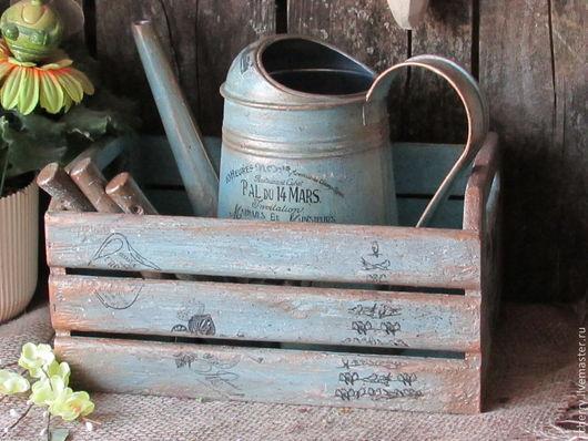"""Лейки ручной работы. Ярмарка Мастеров - ручная работа. Купить Набор для цветов """"Городская садовница"""". Handmade. Голубой, инвентарь, лейка"""