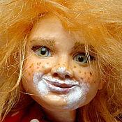 Кузькино счастье, коллекционная кукла ручной работы домовенок