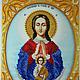 """Иконы ручной работы. Ярмарка Мастеров - ручная работа. Купить """"Богородица Помощница в родах"""". Handmade. Разноцветный, икона, икона бисером"""