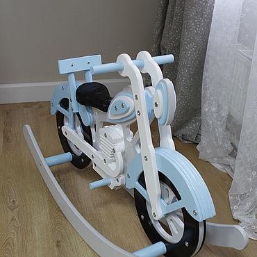 Для дома и интерьера ручной работы. Ярмарка Мастеров - ручная работа Элементы интерьера: Качалка-мотоцикл. Handmade.