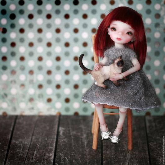 Коллекционные куклы ручной работы. Ярмарка Мастеров - ручная работа. Купить бжд кукла Алиса 20 см. Handmade. Бежевый