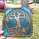 Order Leather purse 'Celtic Tree of Life' - turquoise. schwanzchen. Livemaster. . Wallets Фото №3