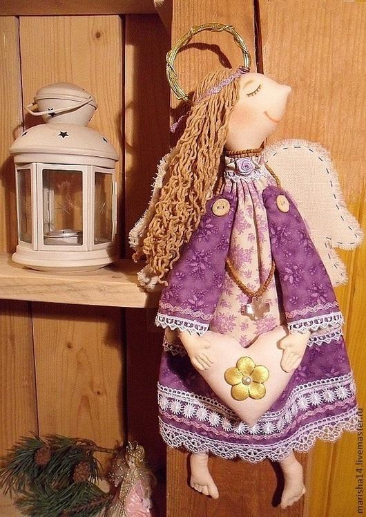 Коллекционные куклы ручной работы. Ярмарка Мастеров - ручная работа. Купить Ангел Мотя. Handmade. Ангел-хранитель, текстильная композиция