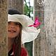 """Шляпы ручной работы. Детская летняя шляпа """"Le vol du papillon"""" (Полёт бабочки). Наталья Прокофьева (la-magie-spb). Интернет-магазин Ярмарка Мастеров."""