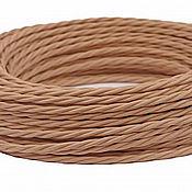 Дизайн ручной работы. Ярмарка Мастеров - ручная работа Провод витой для наружной проводки 2х0,75 какао. Handmade.