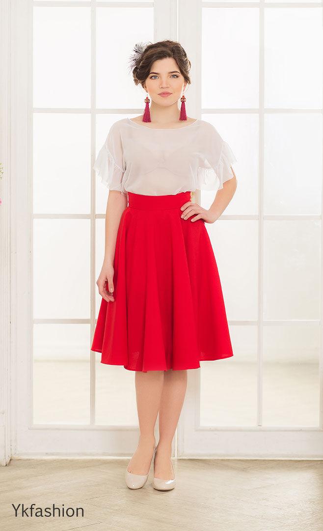 cbad2f6de42 Красная юбка солнце
