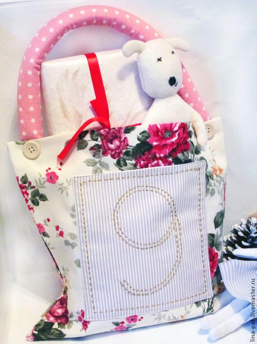 Новый год 2017 ручной работы. Ярмарка Мастеров - ручная работа. Купить сумочка подарочная. Handmade. Коралловый, симпатичный