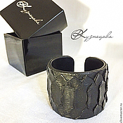 Украшения handmade. Livemaster - original item Leather bracelet BLACK. Handmade.