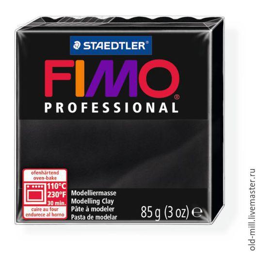 Другие виды рукоделия ручной работы. Ярмарка Мастеров - ручная работа. Купить FIMO professional, 85 г, чёрный, Арт. 8004-9. Handmade.