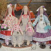 Куклы и игрушки ручной работы. Ярмарка Мастеров - ручная работа Семья зайцев Тильда. Текстильные, интерьерные куклы.. Handmade.