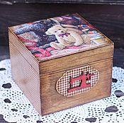 """Для дома и интерьера ручной работы. Ярмарка Мастеров - ручная работа Короб для рукоделия """"My dear teddy"""". Handmade."""