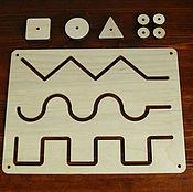 Stuffed Toys handmade. Livemaster - original item Montessori: Maze 3 in 1. Handmade.