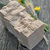 Косметика ручной работы. Ярмарка Мастеров - ручная работа Ореховый десерт, ароматное натуральное мыло на овсянке. Handmade.