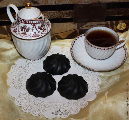 Мыло пирожное. Любимый зефир в шоколаде. Мыльный десерт.Оригинальный сувенир.Идея для подарка. 8 марта.