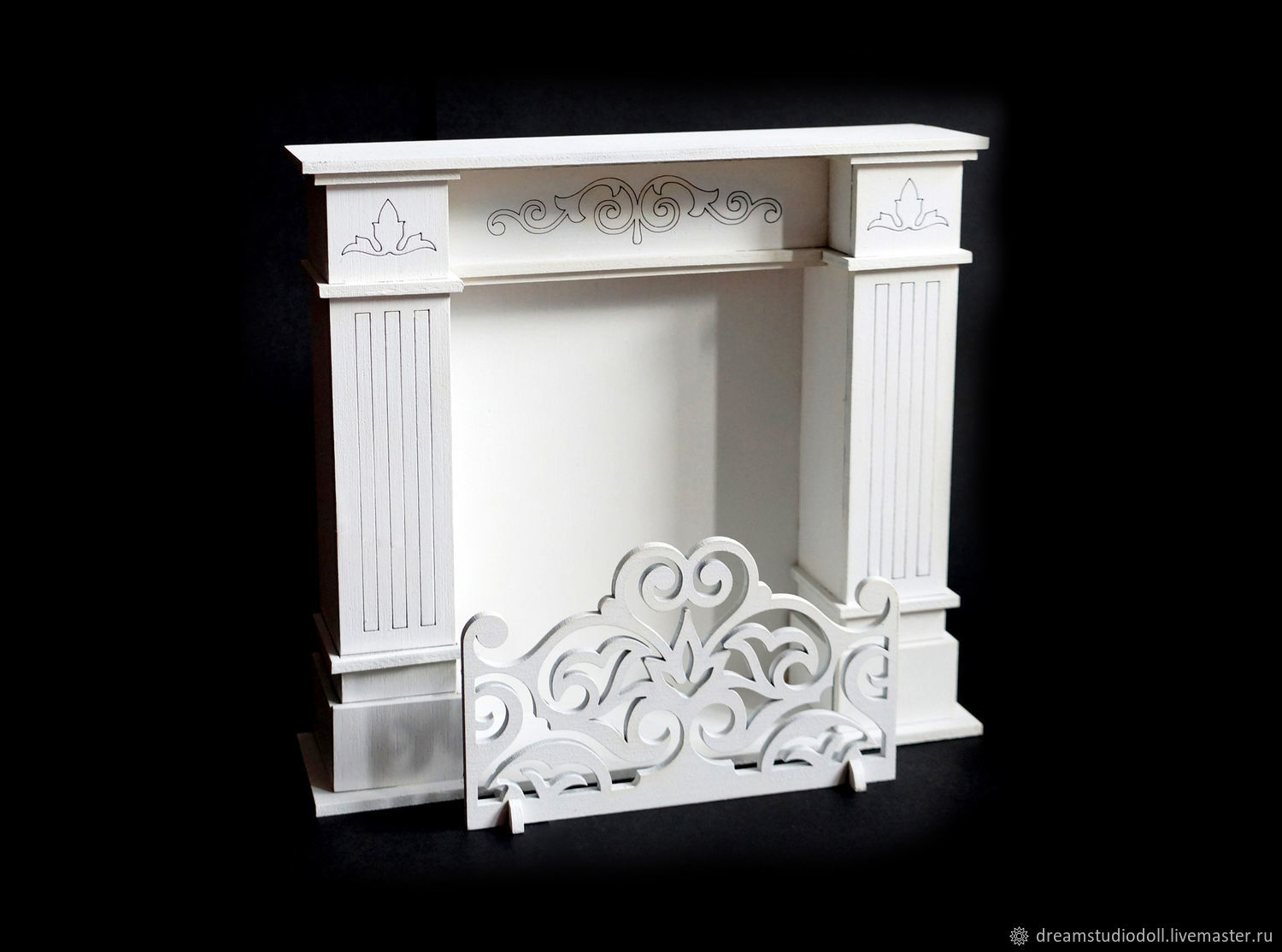 Fireplace for dolls.