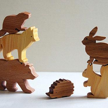 """Куклы и игрушки ручной работы. Ярмарка Мастеров - ручная работа Набор игрушек """"лесные звери"""". Handmade."""