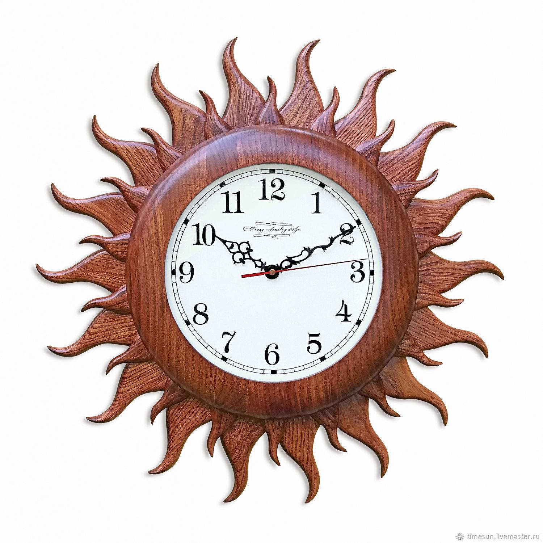 """Часы Солнце цвет """"Махагон"""", Часы классические, Новочеркасск,  Фото №1"""