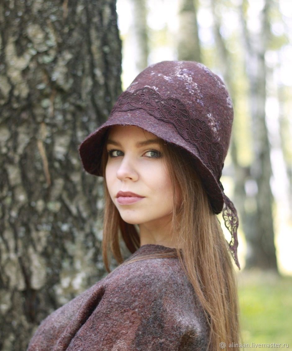 Felted hat 'Chocolate dessert', Hats1, Moscow,  Фото №1