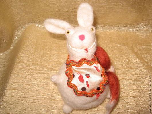 Игрушки животные, ручной работы. Ярмарка Мастеров - ручная работа. Купить Заяц, который сожрал лису. Handmade. Сухое валяние, зайцы