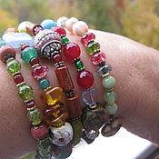 Украшения handmade. Livemaster - original item 09 VIRGO charm Bracelet 5 revs from natural stones Zodiac. Handmade.