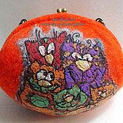 Сумки и аксессуары ручной работы. Ярмарка Мастеров - ручная работа кото сумчик рыж. Handmade.