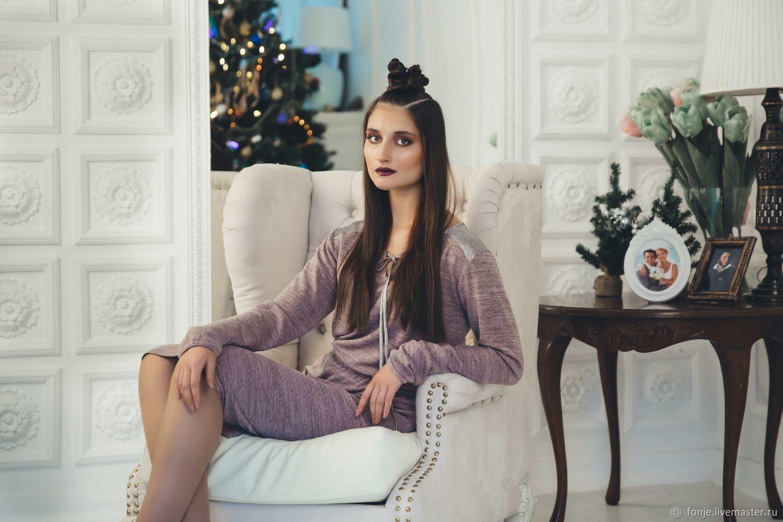 Платье `Cеребро` розовое Fonje