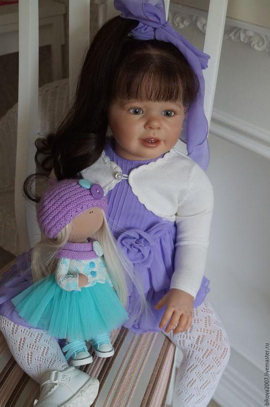 Куклы-младенцы и reborn ручной работы. Ярмарка Мастеров - ручная работа. Купить Машенька. Handmade. Сиреневый, синтепух