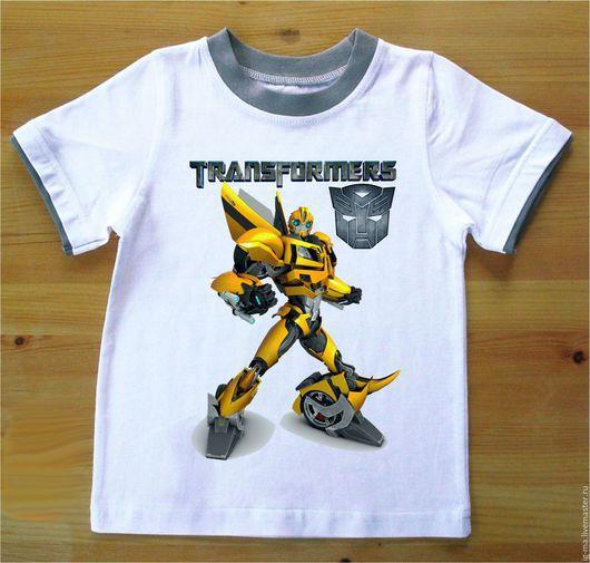 Одежда для мальчиков, ручной работы. Ярмарка Мастеров - ручная работа. Купить Футболка Трансформер Бамблби. Handmade. Комбинированный, рисунок, футболка