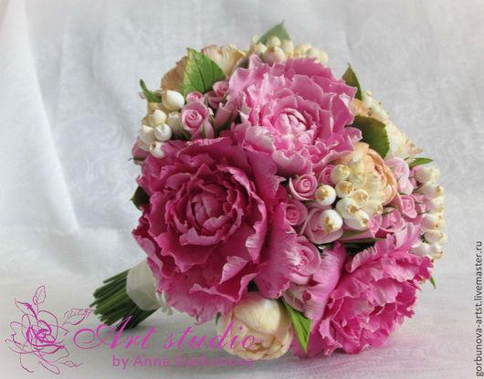 Букет невесты из глины, свадебный букет, свадьба, букет, букет невесты, букет для невесты, букет от Горбуновой Анны