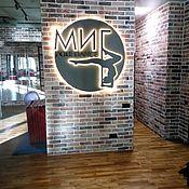 Вывески ручной работы. Ярмарка Мастеров - ручная работа Объемный логотип с подсветкой на стену. Handmade.