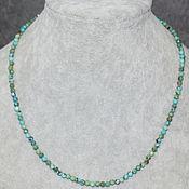 Работы для детей, handmade. Livemaster - original item Natural Turquoise Beads with a cut. Handmade.