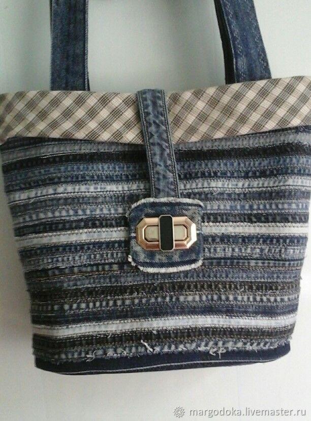 Denim bag 'Basket', Classic Bag, Svetlograd,  Фото №1
