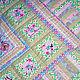 """Детская ручной работы. Ярмарка Мастеров - ручная работа. Купить Детское лоскутное одеяло """" С розочками""""(11). Handmade. Розовый"""